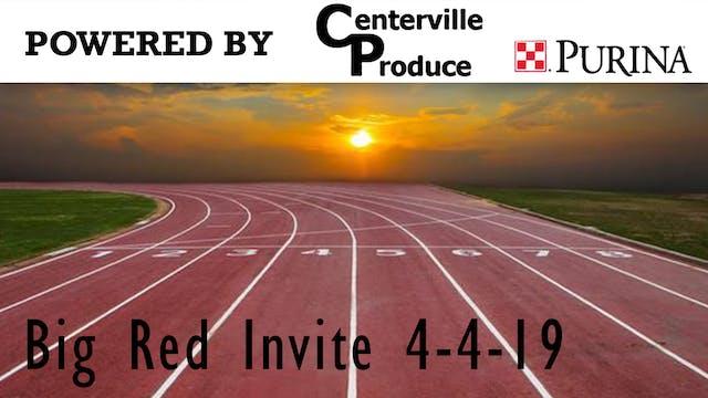 Big Red Track Invite 4-4-19