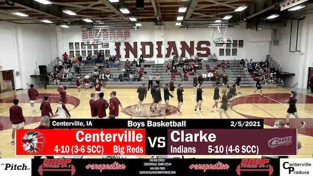 Centerville Boys Varsity Basketball vs Clarke 2-5-21 - Part 1