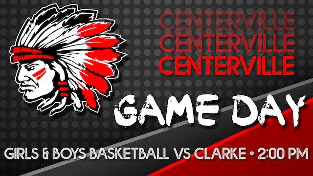 Centerville Girls Varsity Basketball vs Clarke 1-23-21