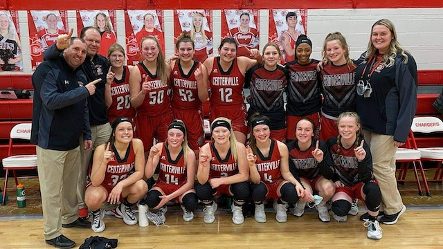 Centerville Girls Basketball win First Ever Conference Title