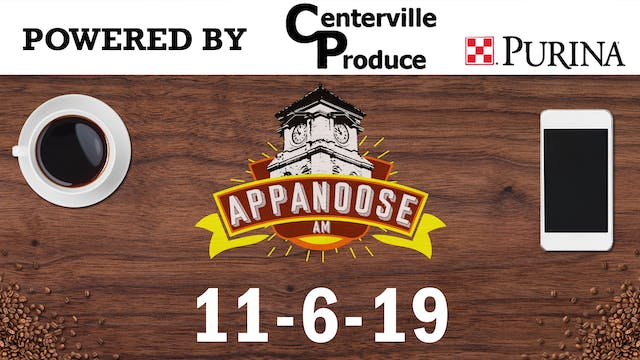 Appanoose AM 11-6-19