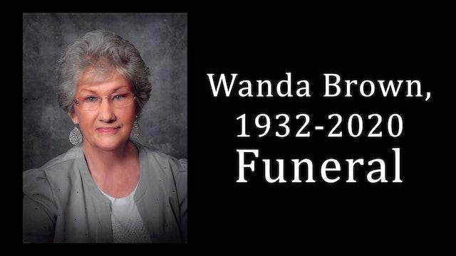 Wanda Brown Funeral 4-22-20