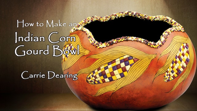 How to Make an Indian Corn Gourd Bowl