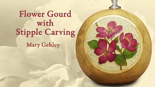 Flower Gourd with Stipple Carving