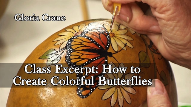 """""""How to Create Colorful Butterflies"""" - An excerpt from the full length class"""