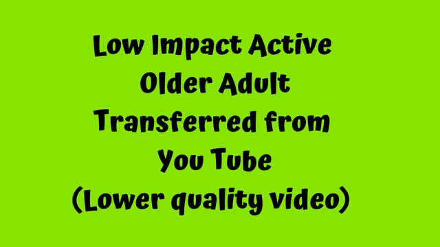 Active Older Adult Dance Fitness - On...