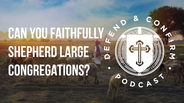 Shepherding Large Congregations (Q&A) - Defend and Confirm Podcast