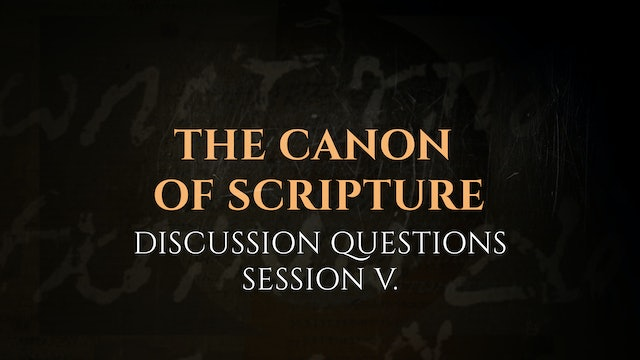 Session 5 - Discussion Questions: The God Who Speaks