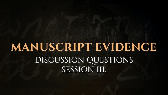 Session 3 - Discussion Questions: The God Who Speaks