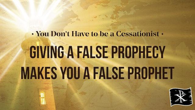 Giving a False Prophecy Makes You a False Prophet - Chris Rosebrough
