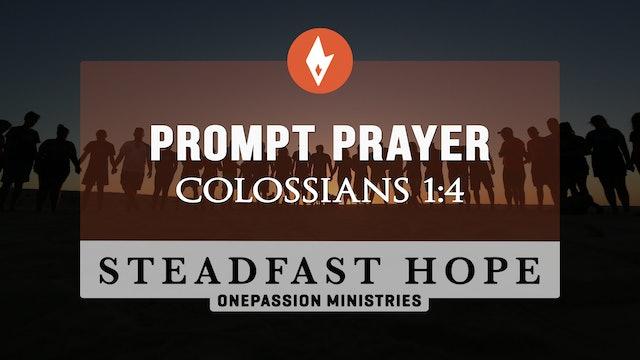 Prompt Prayer - Steadfast Hope - Dr. Steven J. Lawson - 5/5/21