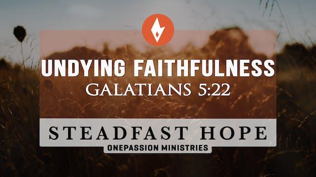 Undying Faithfulness - Steadfast Hope...