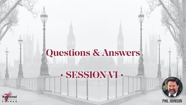 Q&A - Session 6