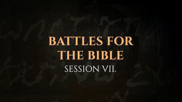 Battles for the Bible - Session 7 - The God Who Speaks: Sunday School Kit