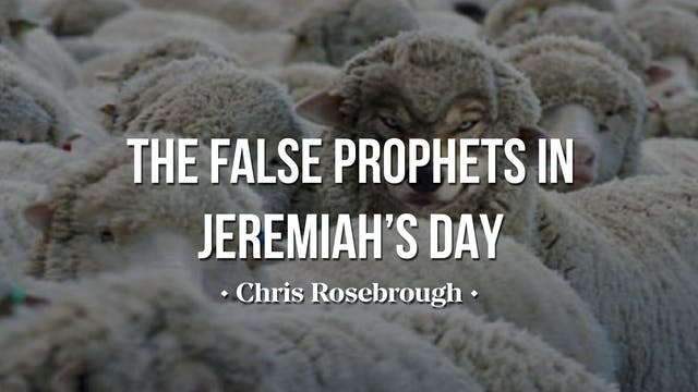 The False Prophets of Jeremiah's Day ...
