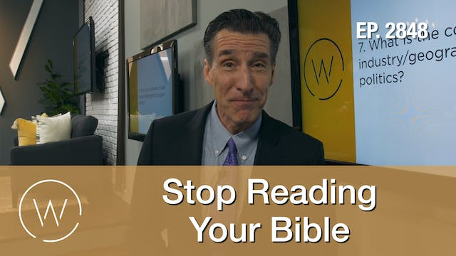 Stop Reading Your Bible - Wretched TV