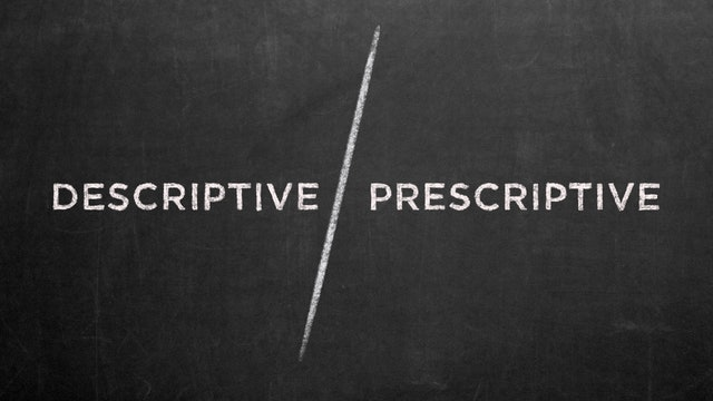 Descriptive vs. Prescriptive - Emilio Ramos