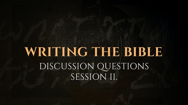 Session 2 - Discussion Questions: The God Who Speaks
