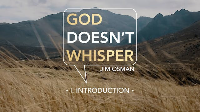 Introduction - E.1 - God Doesn't Whis...