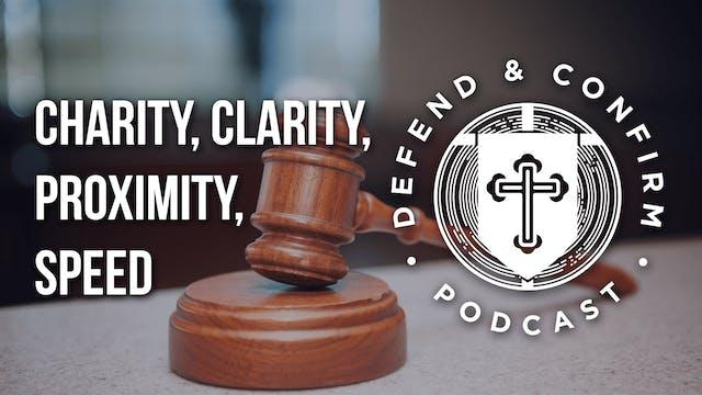 Charity, Clarity, Proximity, Speed - ...