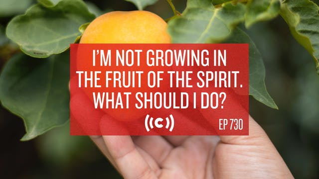 I'm Not Growing in the Fruit of the S...