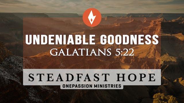 Undeniable Goodness - Steadfast Hope ...