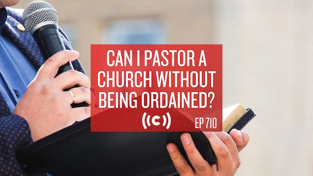 Can I Pastor a Church Without Being O...