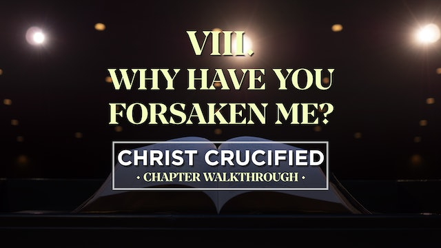Why Have You Forsaken Me? - AG2: Christ Crucified Walkthrough (Chapter 8)