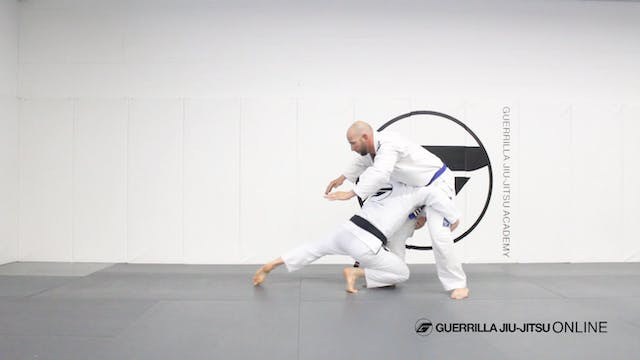 Double Leg Takedown to Half Guard Pul...