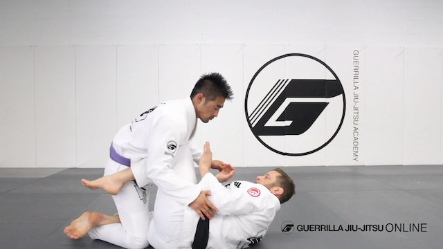 Half Guard: Hip Turn Sweep from Knee Shield