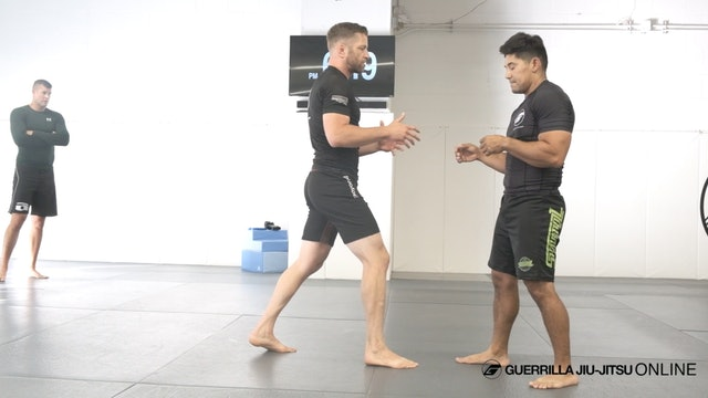 Short arm drag takedown into half guard and baiting the underhook