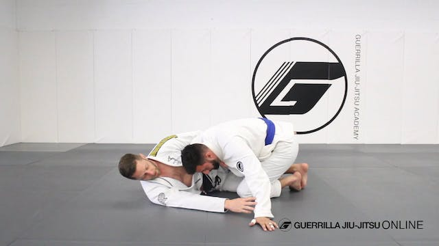 Half Guard: Hip Clamp to Triangle Choke