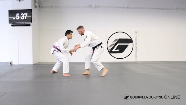 The Basics of Pulling De la Riva Guard.