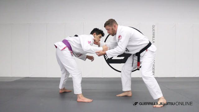 Collar Drag Takedown to Single Leg