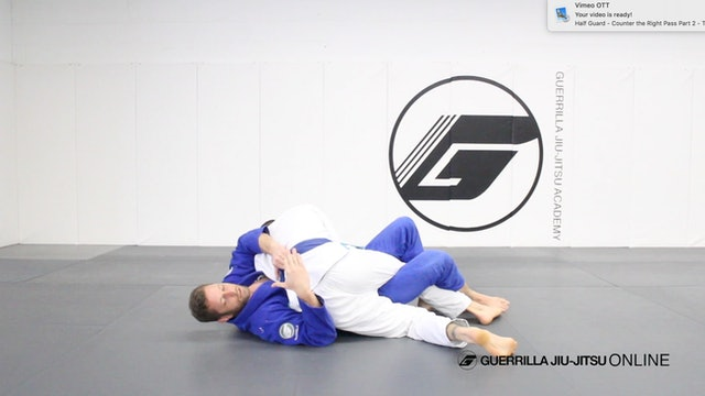 Half Guard - Counter the Right Pass Tip - Don't Get Flattened