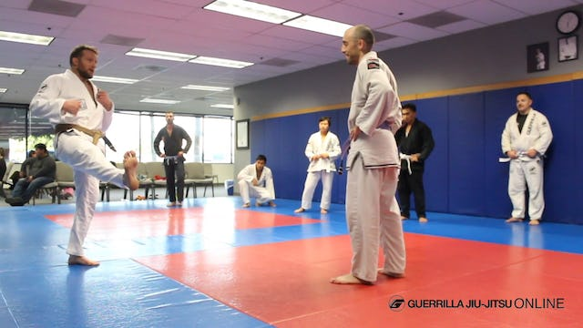 Shuffle Step Trip Finish for Single Leg Takedown