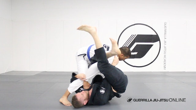 Closed Guard - Omoplata From Leg Trap Sweep