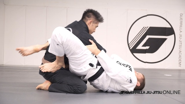 Closed Guard: Hip Ramp To Pendulum Sweep from Sleeve Drag