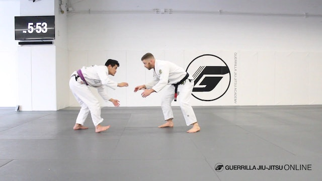Pass the De la Riva Guard to Knee Cut