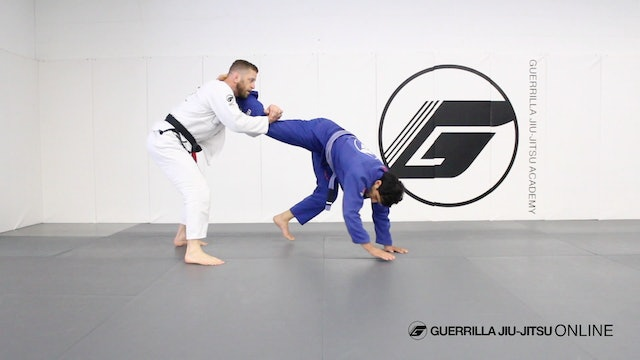 Deep Half Guard - Waiter Hub to X Guard Stand Up