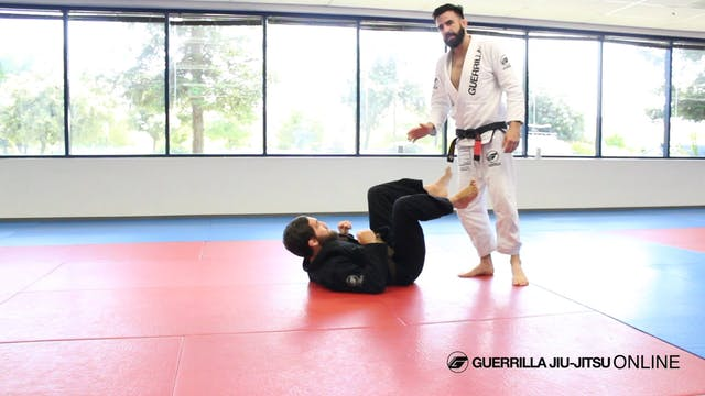 Half Guard: Back Set Hub to Knee Bar