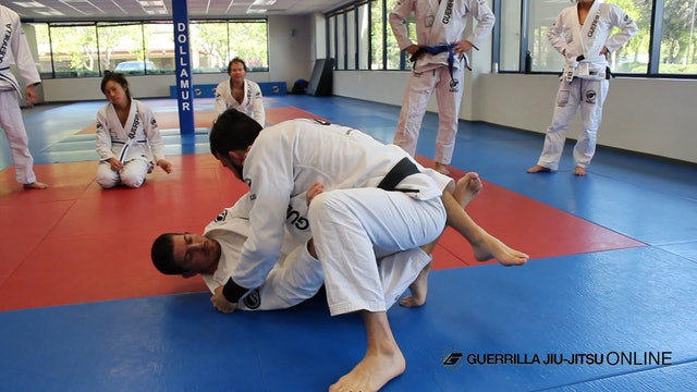 Half Guard: Long Step Pass back to Knee Cut