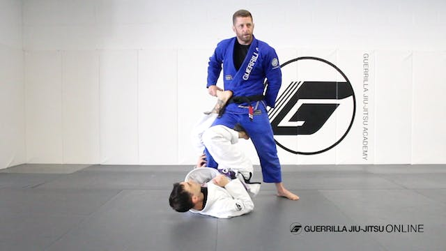 Long Step Pass the Single Leg X Guard