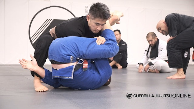 Closed Guard Arm Bar With Juji Gatame Roll Option