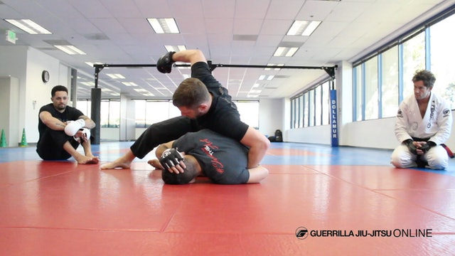 Knee Shield Half Guard - Counter Strikes to Far Side Wrist Control.