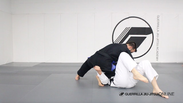 Escaping Knee on Belly Part 2 - Shin Trap To the Back