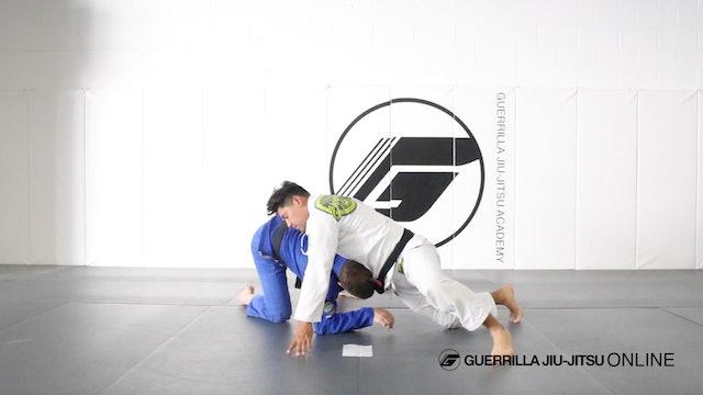 Side Control Escape - Single Leg to Half Guard