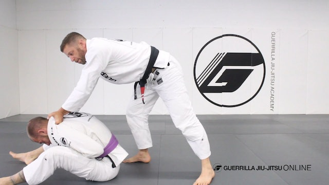 Knee on Belly Cross Choke to the Back
