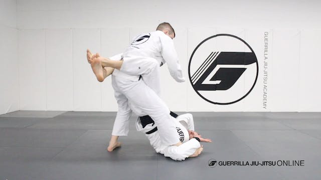Closed Guard - Leg Trap Sweep to Mount