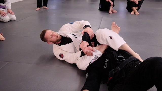 Heel Scrape Back Take to Bow and Arrow Choke to Reverse Triangle Kimura
